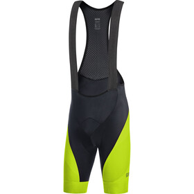 GORE WEAR C3+ Line Brand Bib Shorts Men black/citrus green